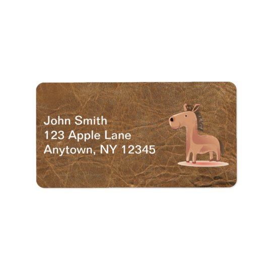 Leather Look with Horse Address Label