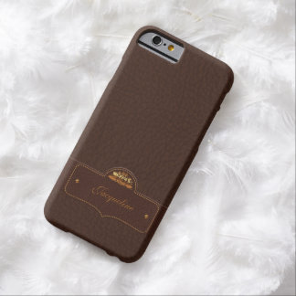 Leather Luxury Name Barely There iPhone 6 Case