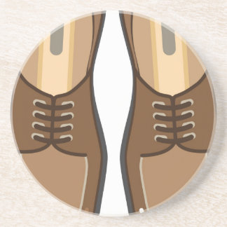 Leather Man's shoes Beverage Coasters