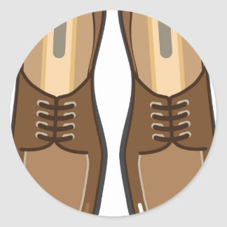 Leather Man's shoes Round Sticker