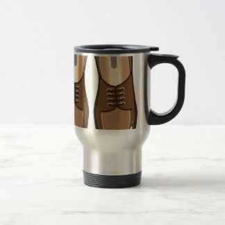 Leather Man's shoes Stainless Steel Travel Mug