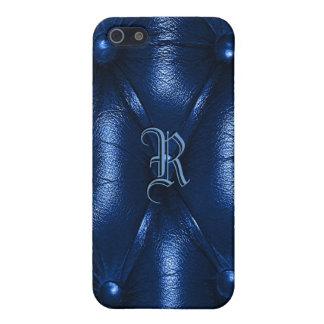 Leather monogram iPhone 5 cover
