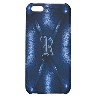 Leather monogram cover for iPhone 5C