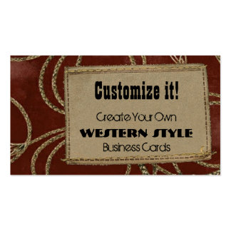 Leather Patch Rope Business Card Templates