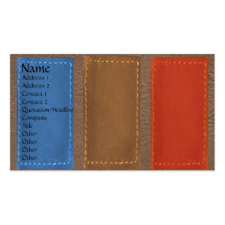 Leather Patchwork Looke :   Designer COWBOYS Pack Of Standard Business Cards