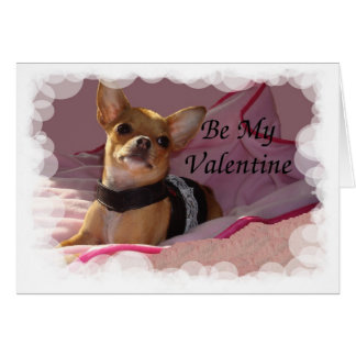 Leather Pink Bubbles Frame Be My Valentine Card