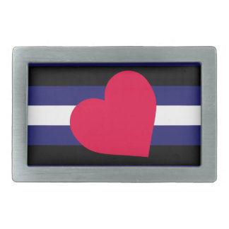 LEATHER PRIDE FLAG STRIPES DESIGN RECTANGULAR BELT BUCKLES