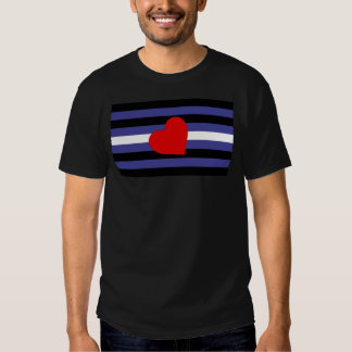 Leather Pride Flag T Shirt