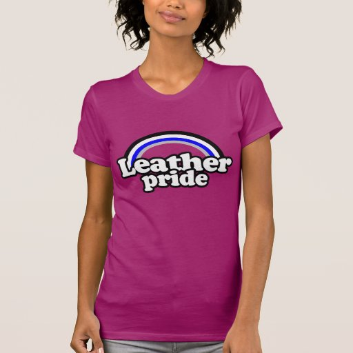 Leather Pride Flag Tee Shirts