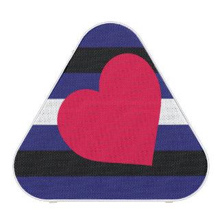 LEATHER PRIDE HEART HORIZONTAL - 2014 PRIDE.png Bluetooth Speaker