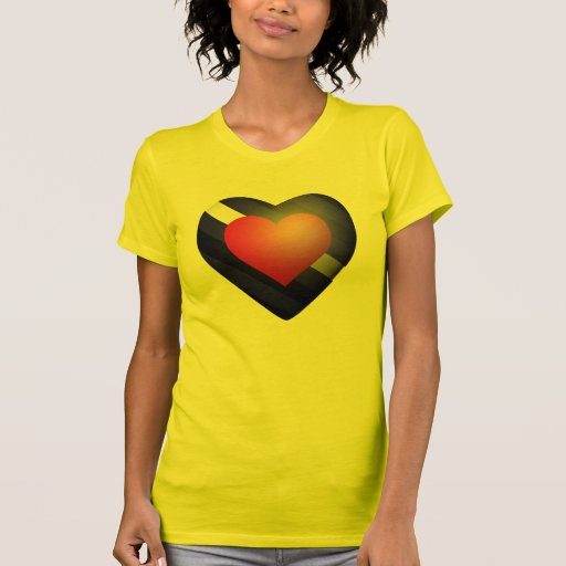 LEATHER PRIDE HEART T-SHIRTS