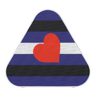 LEATHER PRIDE STRIPED HEART HORIZONTAL - 2014 PRID BLUETOOTH SPEAKER
