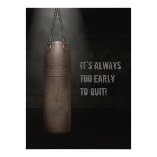 Leather Punching Bag - Motivational Card