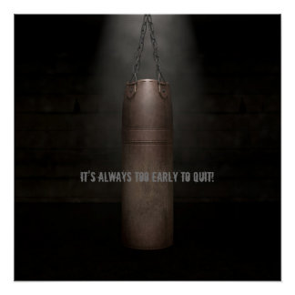 Leather Punching Bag - Motivational Poster