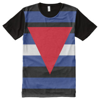 Leather Queer Pride All-Over Print T-Shirt