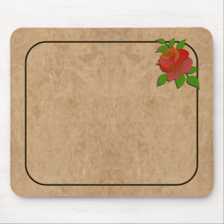 Leather & ROSE MOUSEPAD