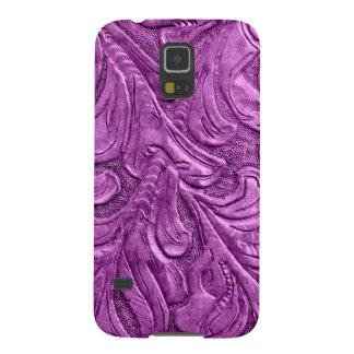 Leather Samsung Galaxy Nexus Phone Cover Purple