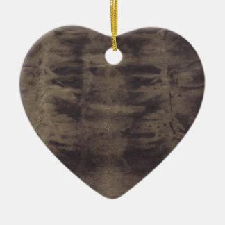 Leather Smile Ceramic Heart Decoration