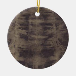 Leather Smile Round Ceramic Decoration