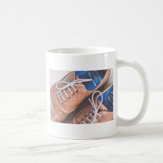 Leather Snakeskin Brown shoes Basic White Mug