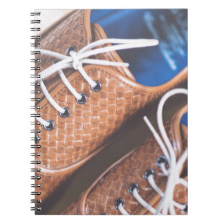 Leather Snakeskin Brown shoes Notebooks