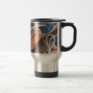 Leather Snakeskin Brown shoes Stainless Steel Travel Mug