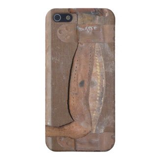 Leather Strap on Antique Trunk Cover For iPhone 5/5S
