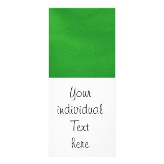 leather structure,green personalised rack card