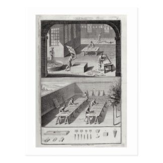 Leather tanning, from the 'Encyclopedia' by Denis Postcards