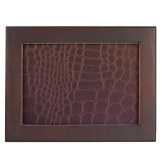 Leather Texture Keepsake Boxes