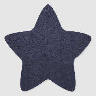 Leather Texture, Leather Background - Blue Star Sticker