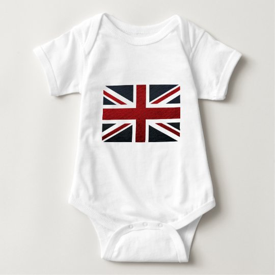 Leather Texture Pattern Union Jack British(UK) Fla Baby