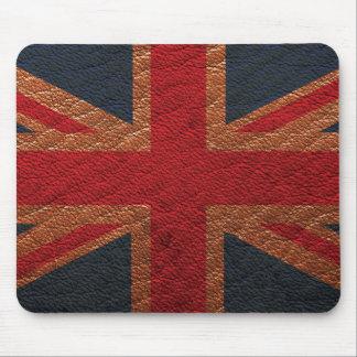 Leather Texture Pattern Union Jack British(UK) Fla Mouse Mat