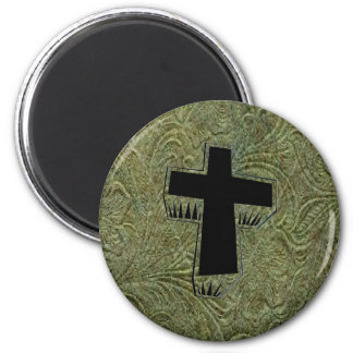 Leather Tool Design Cross Fridge Magnet