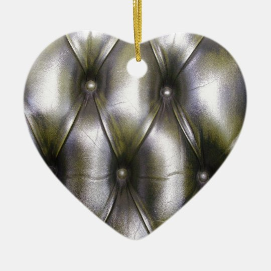 Leather upholstery christmas ornament