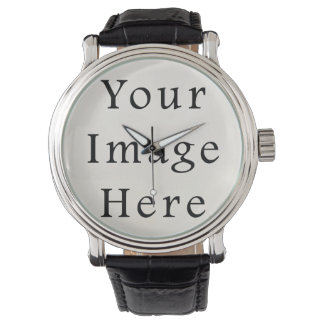 Leather Watch Personalized Wrist Watches Template