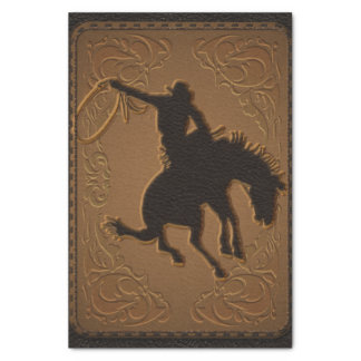 Leather Western Wild West Cowboy Birthday Party Tissue Paper