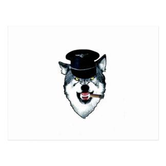 Leather Wolf Postcard