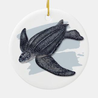Leatherback Sea Turtle Ceramic Ornament