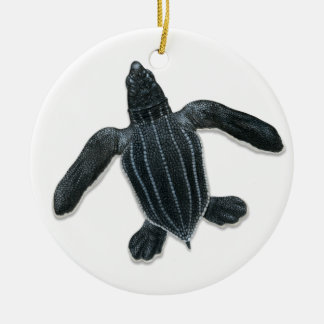Leatherback Sea Turtle Hatchling Ornament