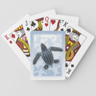 leatherback sea turtle hatchling playing cards