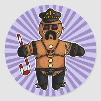 leatherdaddy gingerbread classic round sticker