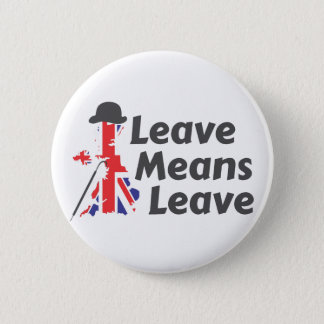 leave 6 cm round badge