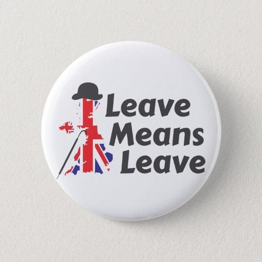 leave 6 cm round badge