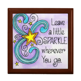 Leave A Little Sparkle Large Square Gift Box