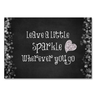 Leave a Little Sparkle Wherever You Go Quote Table Cards