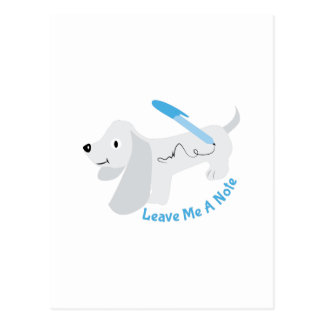 Leave A Note Postcard