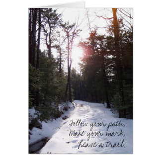 Leave A Trail Note Card