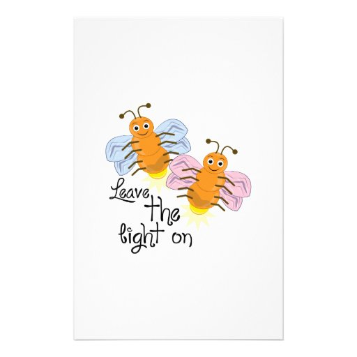 Leave Light On Personalized Stationery