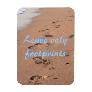 Leave Only Footprints Rectangular Photo Magnet